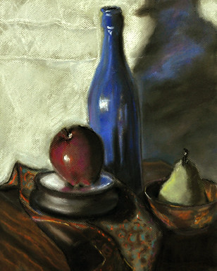 Composition in red, white and blue by Gayle Bell