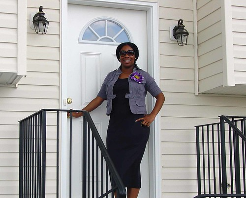 Latia Reed, in front of her new home in the Shippensburg Self-Help Housing Development on move-in day. USDA supports homeownership efforts through a variety of programs.