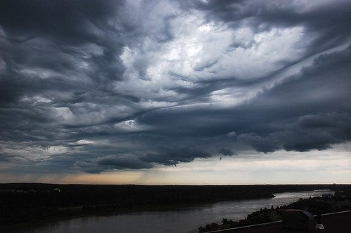 Clouds, river, rain by Andrew de Souza