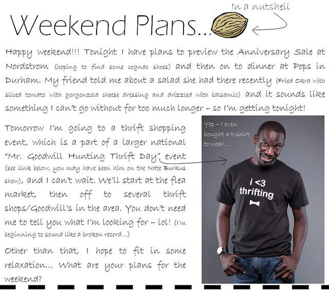 weekend plans 7.8