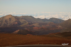 Haleakala Caldera (ucfmat) Tags: sunset sky sun mountain beautiful beauty landscape photography volcano hawaii photo nationalpark colorful paradise peak maui observatory haleakala hawaiian summit houseofthesun asianandhiscamera asianandhiscameracom