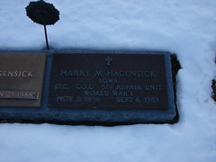 Harry M. Hagensick (Philip Weiss) Tags: grave genealogy mcgregoriowa pleasantgrovecemetery