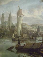 Jacobus Storck, Town by the River, 1670s-1680s, detail 1 (DeBeer) Tags: tower art sailboat river painting landscape boat town cathedral 17thcentury nationalgallery slovakia artmuseum rhine oldtown imaginary bratislava storck speyer dutchlandscape landscapepainting riverscape dutchpainting dutchart slovaknationalgallery imaginaryview 1680s 1670s 17thcenturyart slovensknrodngalria 17thcenturypainting nationalgalleryofslovakia jacobusstorck townbytheriver