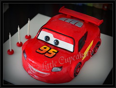Lightning McQueen Cake (Klaire with a Cake) Tags: cake little lightning mcqueen tlc cupcakery klairescupcakes