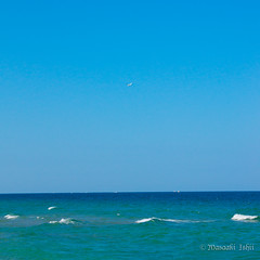 Plane and Blue sea. (Adams100) Tags: landscape sony a550