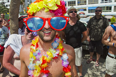 Maspalomas Gay Pride 2012 (Alex Bramwell) Tags: camera gay grancanaria fun happy glasses costume spain funny parade wig disguise gaypride float spectator maspalomas