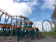 Looking back on Speed (CoasterMadMatt) Tags: park uk greatbritain bridge west wales speed out photography amusement spring day fighter ride photos unitedkingdom britain euro no united great cymru may kingdom tourist photograph eurofighter gb roller theme amusementpark british leisure rides rollercoaster welsh oakwood sir coaster parc pembrokeshire themepark touristattraction leisurepark attraction coasters narberth 2012 dayout limits nolimits sirbenfro benfro west aspro hamdden gerstlauer oakwoodthemepark sir canaston gorllewin canastonbridge coastermadmatt gorllewin waleslargestthemepark parchamddenoakwood