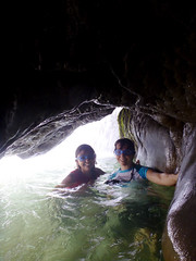 behind Pulhapanzak waterfall (*Andrea B) Tags: cliff white water america swimming swim river de lago waterfall spring jump jumping rainbow whitewater central honduras jungle iguana april cave lagodeyojoa cliffjumping mainland centralamerica 2012 yojoa pulhapanzak cliffjump watercave xpedition junglexpedition pulhapanzakwaterfall mainlandhonduras