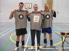 "Izik and his helpers with their ""Thank You"" T-Shirts and Prosecco :-)"