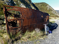 Too late for the ferry (Fraser P) Tags: newzealand bay coast memorial ship fitzroy rusty shipwreck wellington hull steamship wreck baring beac pencarrow sspaiaka