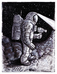 Astronaut Bruce Baxter 2 (Space Art) Tags: stars space ufo aliens galaxy scifi planets timetravel moons universe cosmos nebulas spaceexploration alternatehistory timeship bobbello lunaranomaly