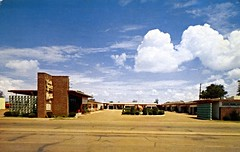 Town House Motel Tucumcari_NM (Edge and corner wear) Tags: vintage chrome postcard pc motel motor hotel inn lodge nm new mexico aaa route 66 perforated screen wall concrete block midcentury modern modernism architecture design