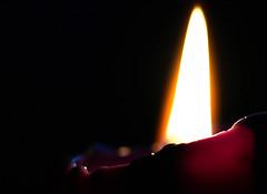 Burning candle (kinaaction) Tags: macromondays candle burningcandle flame light fire element handlewithcare sonyilce6000 macromondayshandlewithcare