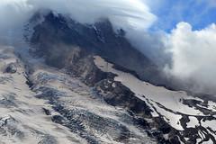 Willis Wall Wrapped (Sotosoroto) Tags: dayhike hiking mtrainier burroughsmountain cascades mountains washington winthropglacier glacier cliff
