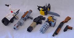 Doomguy (lingonkart) Tags: lego moc doom doomguy spacemarine videogame fps demons ripandtear pistol chainsaw shotgun chaingun rocketlauncher plasmagun bfg9000