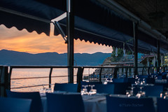 nice Place to be (Martin Bachert) Tags: lerici restaurant sea sunset blue d800 50mm 14 italy