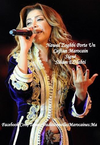 Nawal Zoghbi porte un Caftan Marocain