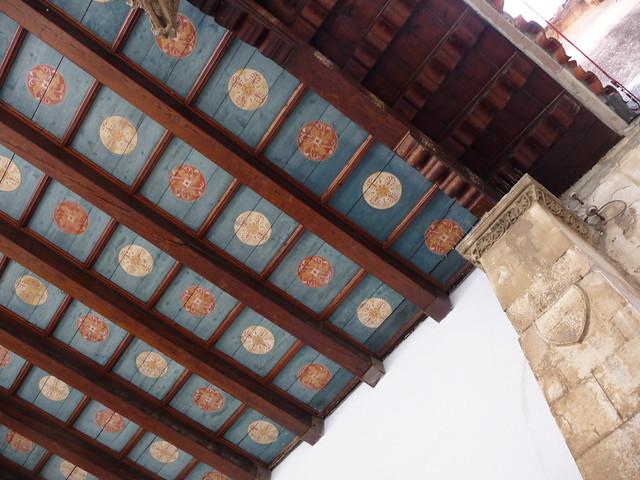 The ceiling of Berislavic palace, Trogir
