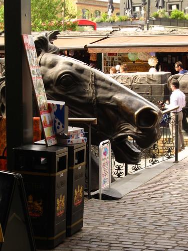Horse Head Statue by Danalynn C