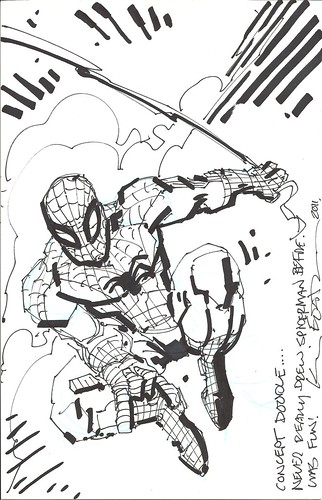 "Panel to Panel :: The Amazing Spider-Man ""Blank Variant"" cover ..concept by Kevin Eastman (( 2011 )) [[ Courtesy of P2P ]]"