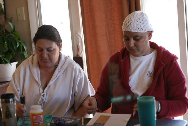 tina and sundee at visual prayer