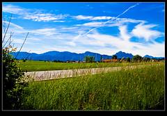 Oberallgaeu (Henrik Skupin) Tags: street sky house mountain alps green grass clouds canon germany de landscape bavaria bluesky tamron hdr 1750mm roshaupten