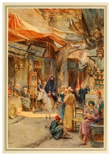 004-El Khan Khalil en el Cairo-An artist in Egypt (1912)-Walter Tyndale