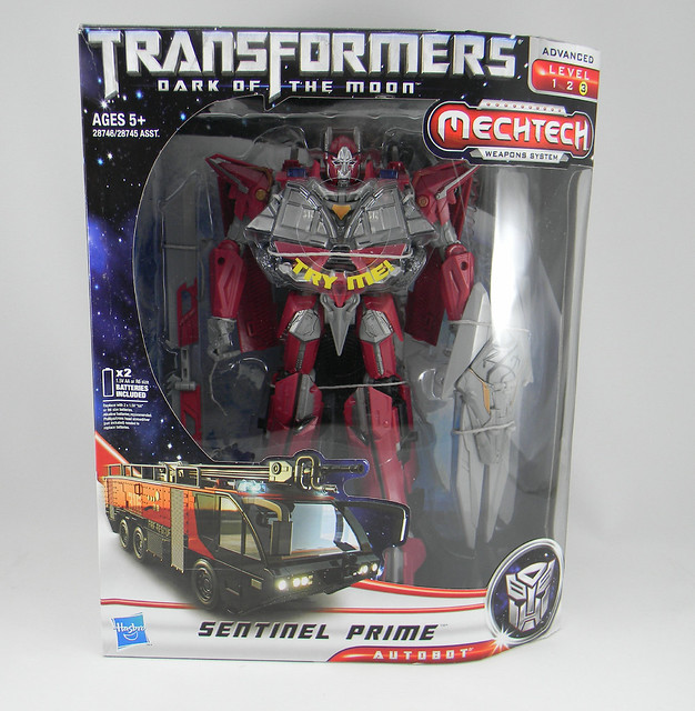 Transformers Sentinel Prime Dark of the Moon Leader - caja