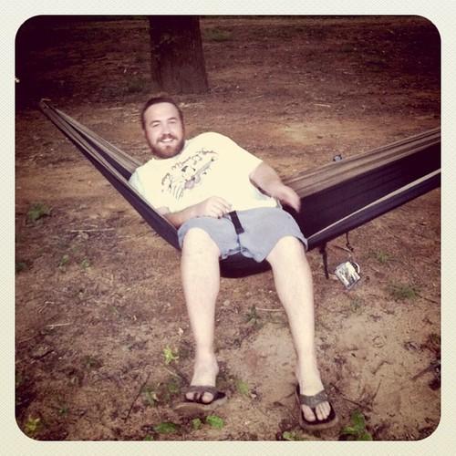 Zac on the hammock