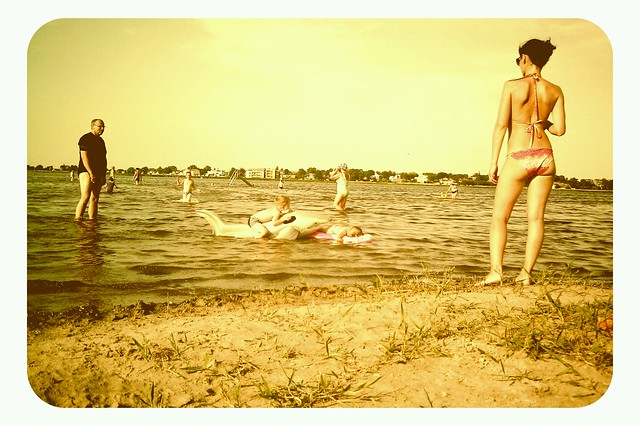 Girl at the Haapsalu beach