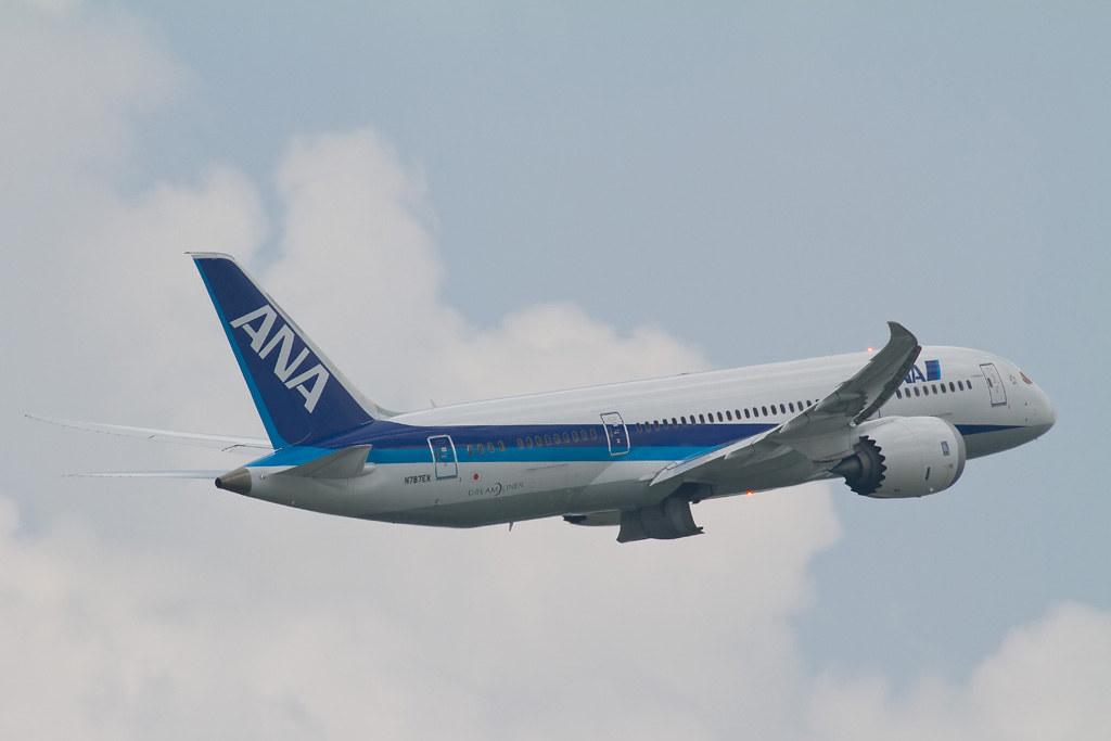 Boeing 787from behind @RJOO