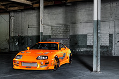 MC Customs Fast and the Furious Toyota Supra (GREATONE!) Tags: orange green lights nikon neon force florida miami bees alien wheels wing fast down mc mia toyota lamborghini furious customs vellano supa d300s