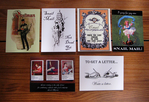 My 6 postcard designs, as of July 7, 2011