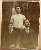 """Three unknown Edwardian men, one in uniform • <a style=""""font-size:0.8em;"""" href=""""http://www.flickr.com/photos/24469639@N00/6938993568/"""" target=""""_blank"""">View on Flickr</a>"""