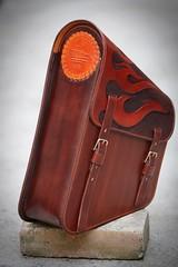 Spartan sidebag (silkfatblues) Tags: leather carved hand lion croatia harley zagreb custom davidson spartan holsters sidebag silkfatblues
