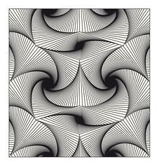 pentagonal twist black lines (hoppermind) Tags: illusion opart geometricart blackandwhiteart opticalart geometricdesign geometricpatternn