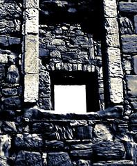 through the window (smilne2112) Tags: blue castle window st wall ruin monans
