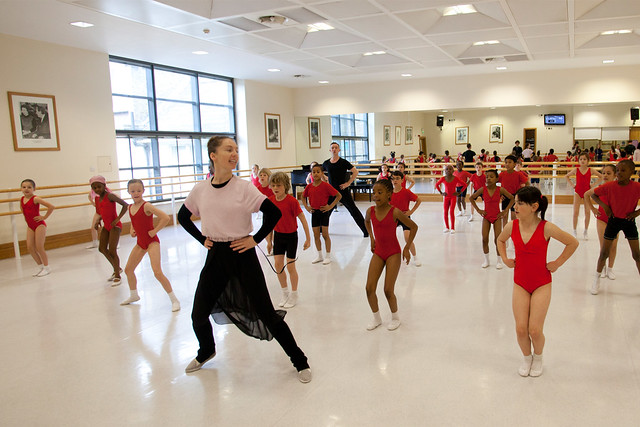 Kristen Mcnally leads a dance class as part of the Chance to Dance programme 2012
