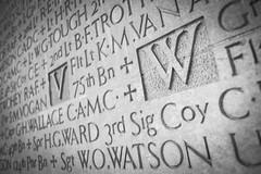 Wall Carvings (UBRANE) Tags: blackandwhite toronto canada wall remember letters universityoftoronto streetphotography fujinon carvings antoine uoft 18mm blogto bruneau torontoist blogtophoto fujifilmxpro1 ubrane