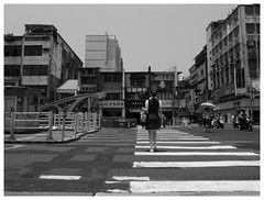 Parallel lines (Delytayan Third) Tags: street bw taiwan taipei
