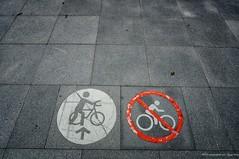 No cycling - only walking the bike! (antwerpenR) Tags: china travel b hk bike bicycle cn hongkong southeastasia c cycle biking asean taipo 5photosaday zzunsorted epz1650mmf3556oss