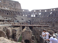 A view inside the Colosseum, Rome, Italy, 2nd Sept 2009. (Dave Wragg) Tags: italy rome colosseum