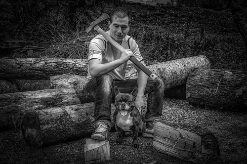 The Lumberjack and his DOG