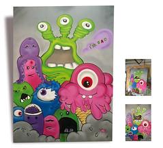 IM BAD Monster neromonga (Neromonga) Tags: pink blue white streetart black green art monster grey graffiti kunst bad lila marker freehand cans belton molotow stifte neromonga telemagenta pappwabenplatte