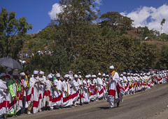 Ethiopian Orthodox Priests Celebrating The Colorful Timkat Epiphany Festival, Lalibela, Ethiopia (Eric Lafforgue) Tags: africa people men church horizontal outdoors photography dance clothing day dancing african faith headscarf crowd ceremony culture multicoloured parade line christian celebration event devotion males christianity ethiopia ornate orthodox groupofpeople cultures coptic oneperson developingcountry lalibela humaninterest orthodoxy lifestyles hornofafrica inarow epiphany ethiopian eastafrica brightcolour artandcraft amhara onlymen fulllenght colorpicture maturemen africanethnicity artscultureandentertainment africanculture onlymaturemen copticchristianity colourpicture celebratoryevent largegoupofpeople ethio1411094