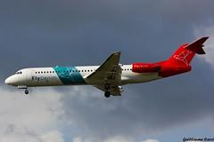 PH-MJP Fokker 100 Denim Air (Guillaume Carr) Tags: air bordeaux denim 100 spotting fokker 2015 mrignac phmjp