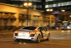 Audi R8 (SPV Automotive) Tags: sports car silver exotic audi coupe supercar r8