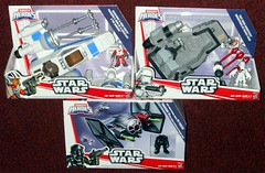 Hasbro - Galactic Heroes Force Awakens Ships (Darth Ray) Tags: hasbro star wars galactic heroes the force awakens ships resistance xwing fighter with poe dameron first order snowspeeder special forces tie