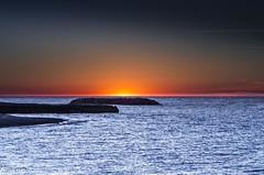 Erie-1 (kaustavmukherjee) Tags: sunset erie lake colors orange yellow blue calm peaceful birds nature landscape beautiful light vibgyor serene beach pennsylvania lakes great water