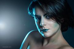 Blue Ice. Black Ice. (Oriol Colls) Tags: woman portrait cyberpunk cyborg light blue girl sexy future